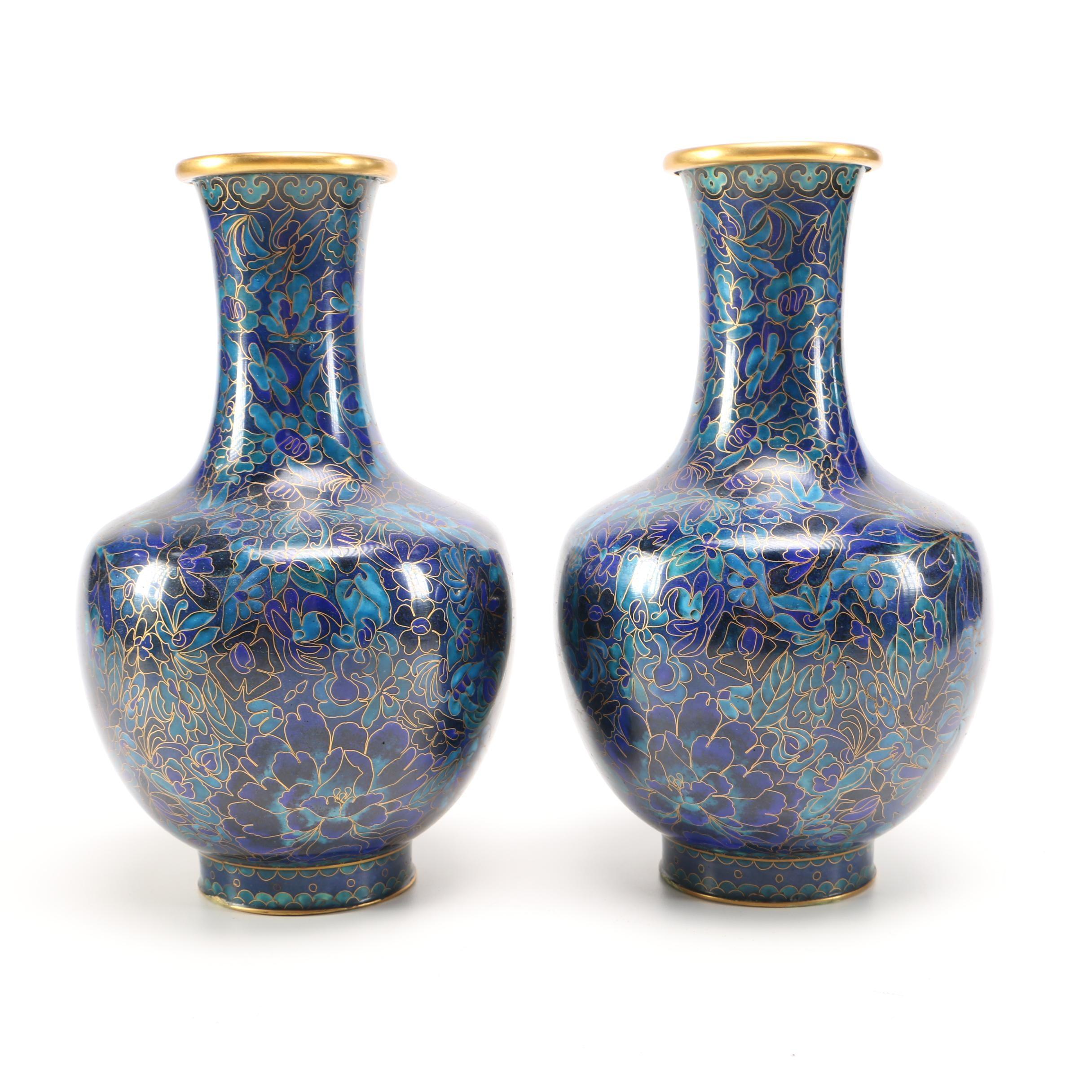 Chinese Cloisonné Enamel Vases