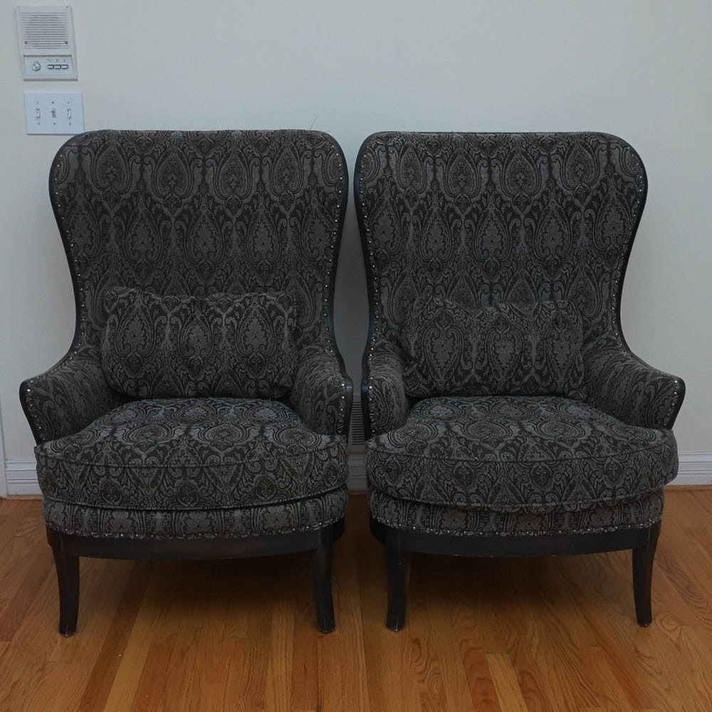 Pair of Wingback Armchairs by Arhaus