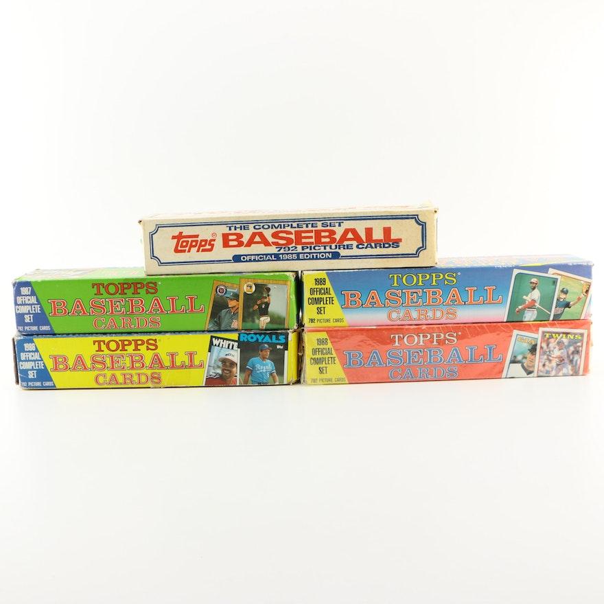 1985 1989 Topps Baseball Card Complete Sets