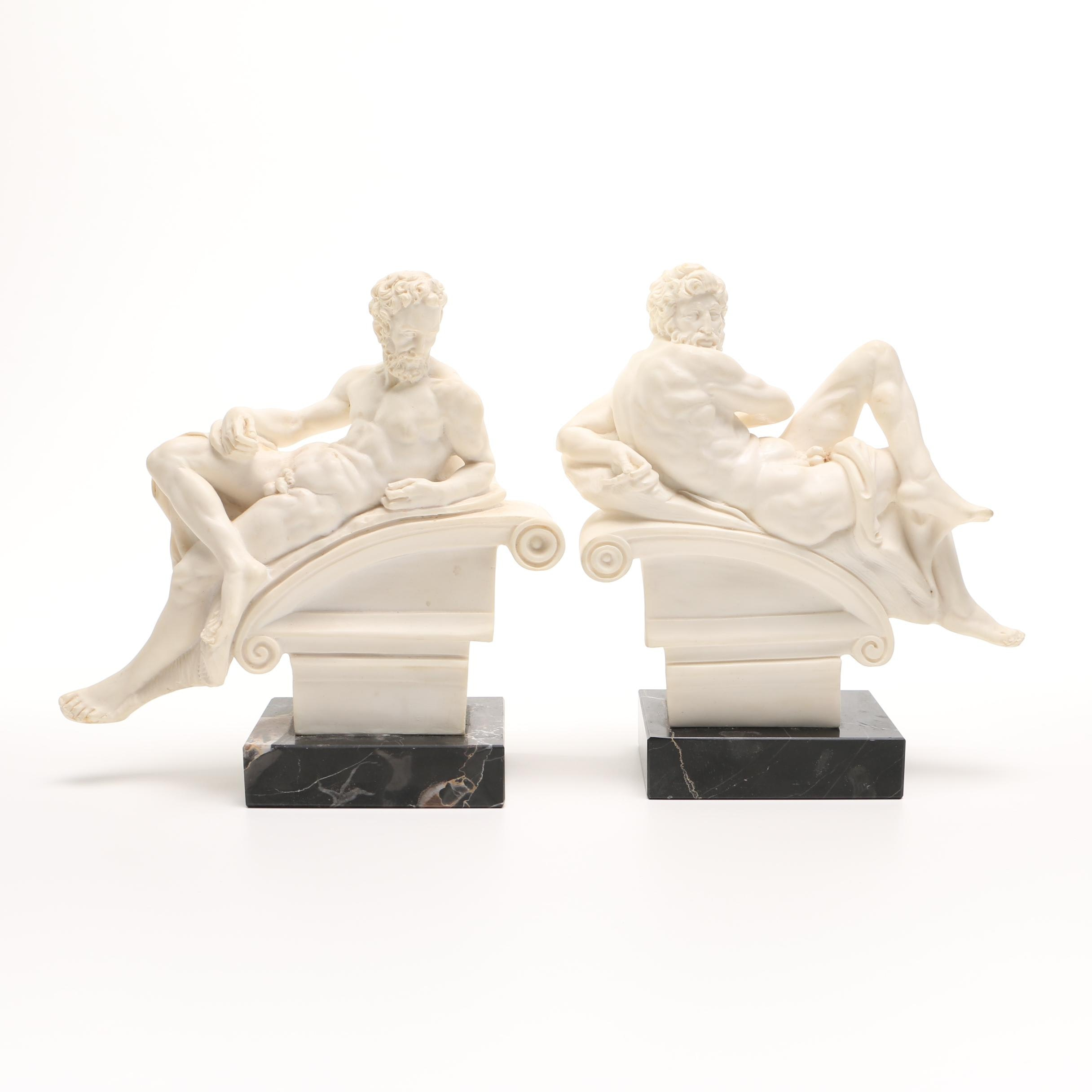 Italian Resin and Marble Bookends