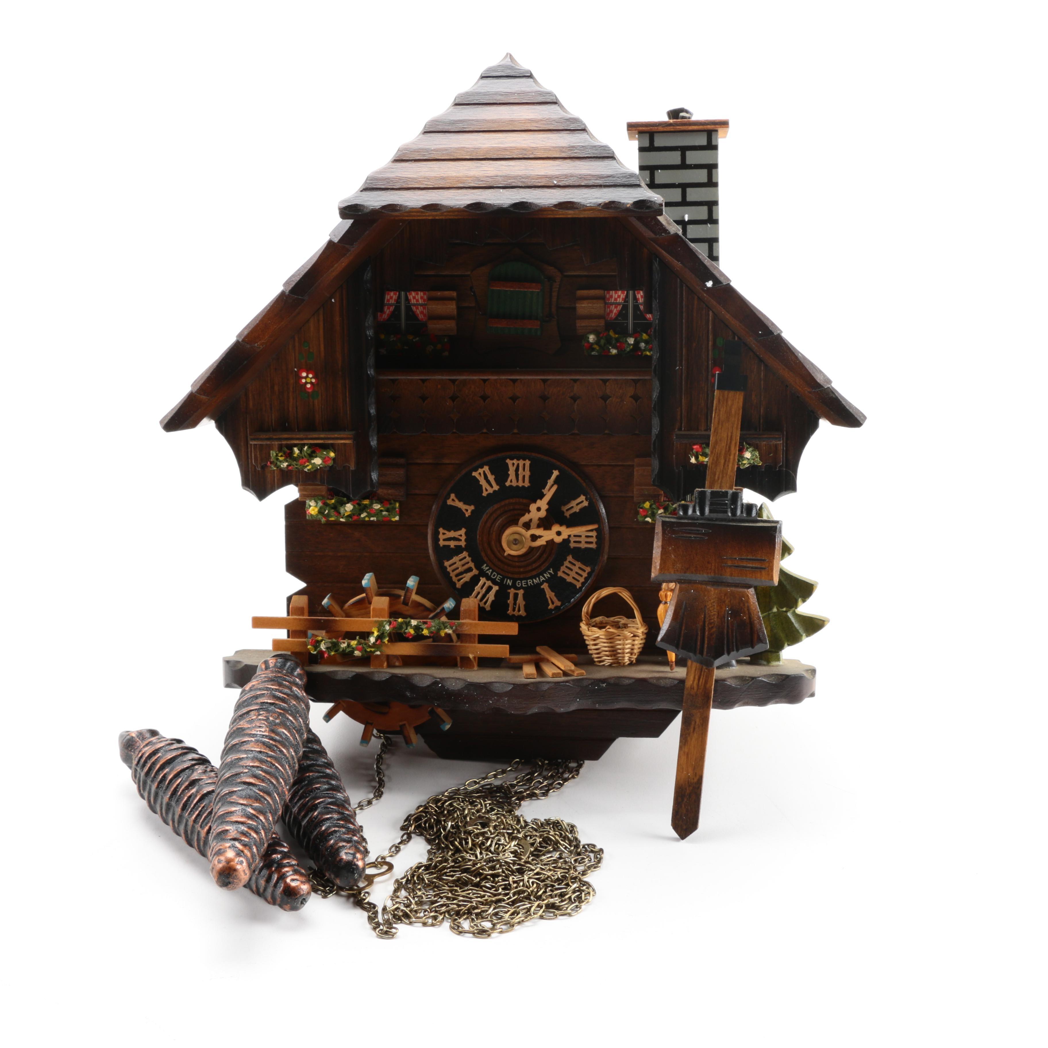 Vintage Wooden German Cuckoo Clock