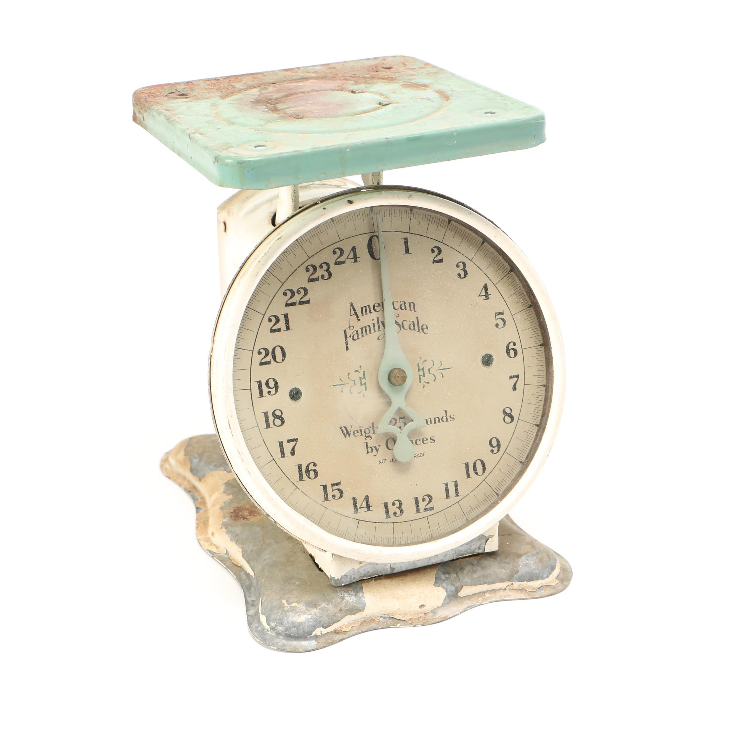 Vintage 25 lbs American Family Scale