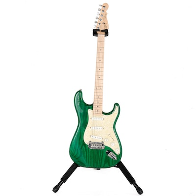 Forest Green G&L George Fullerton Signature Legacy Electric Guitar With Tremolo and Case
