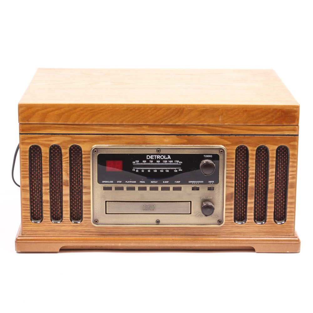 Detrola Faux Vintage Tabletop Stereo