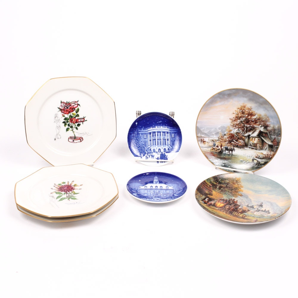 German Collector's Plates Featuring Royal Copenhagen