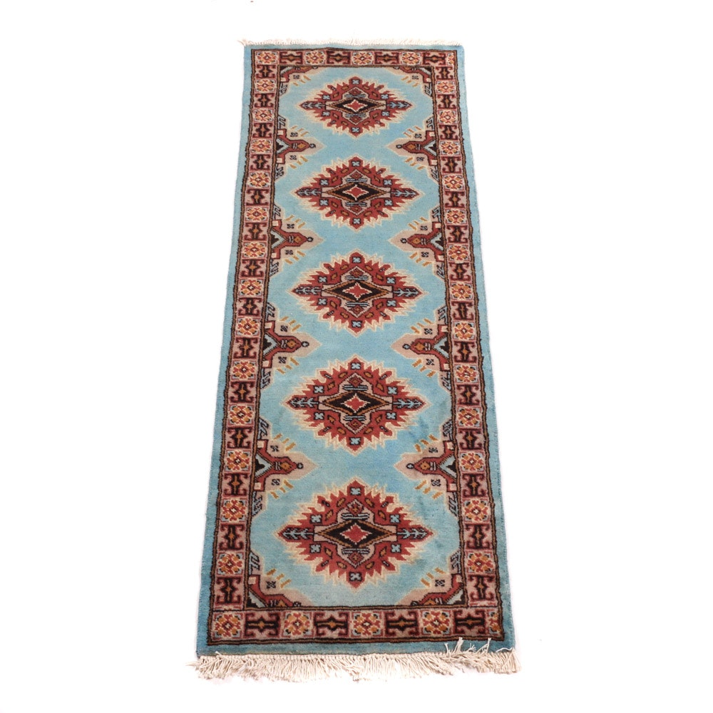 Hand-Knotted Bokhara Carpet Runner
