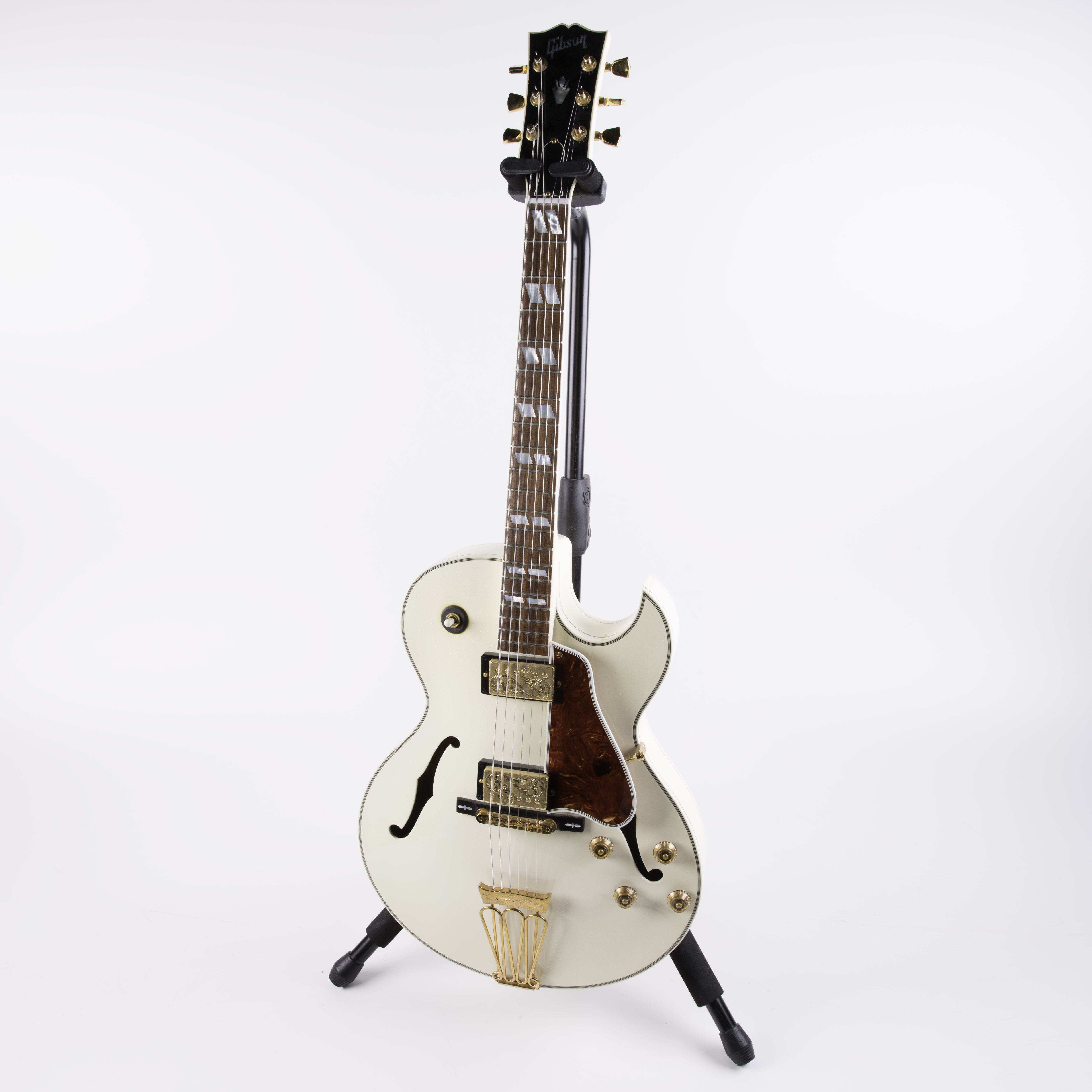 Gibson Custom Shop L-4 10th Anniversary Diamond White Sparkle Guitar