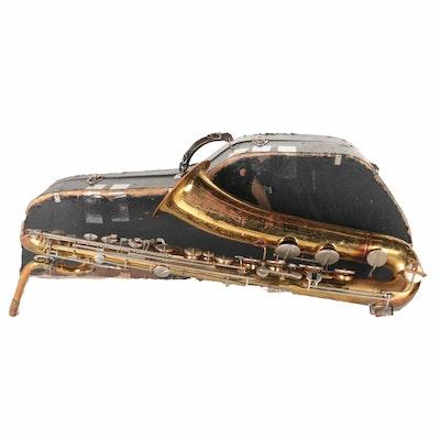 Vintage Bundy Baritone Saxophone With Case