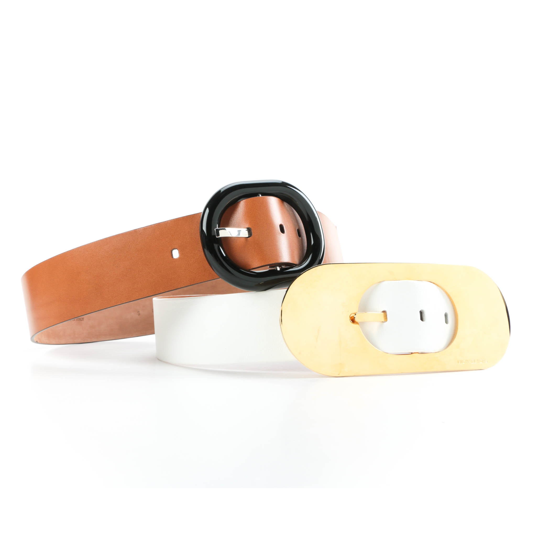 Pair of Michael Kors Leather Belts