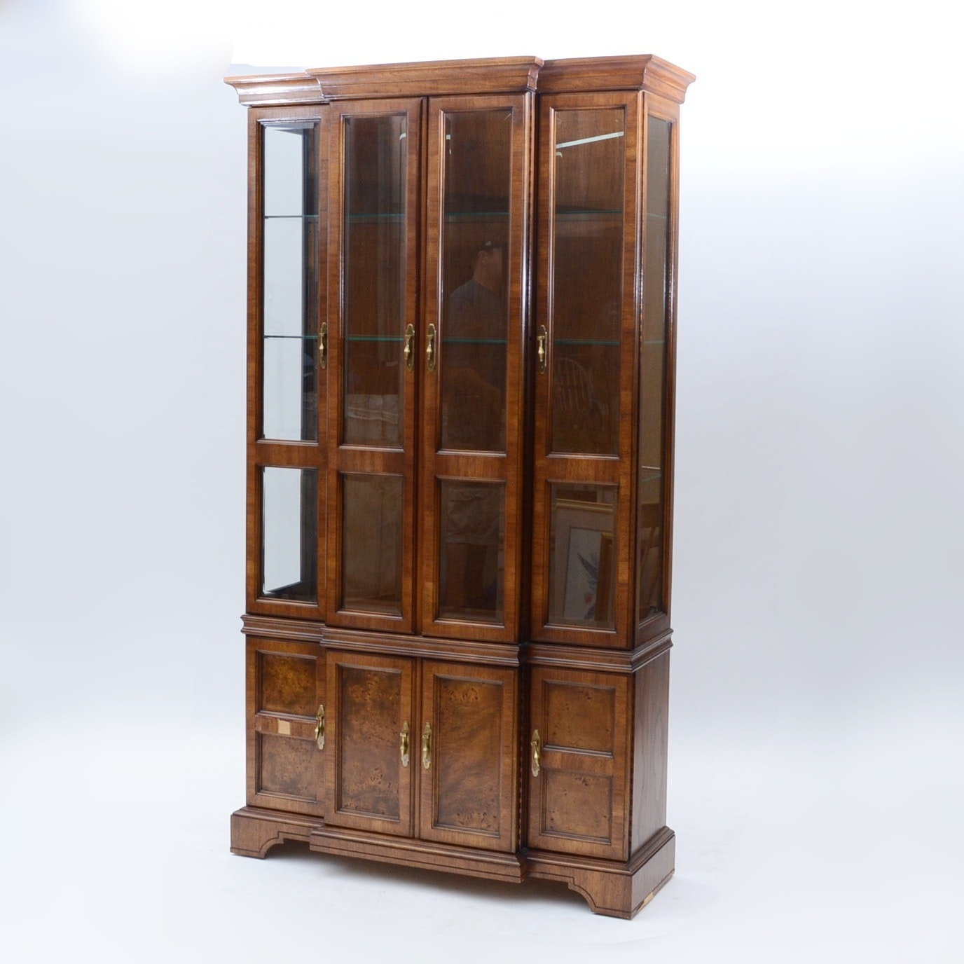 Vintage Breakfront China Cabinet By Tomlinson Furniture ...