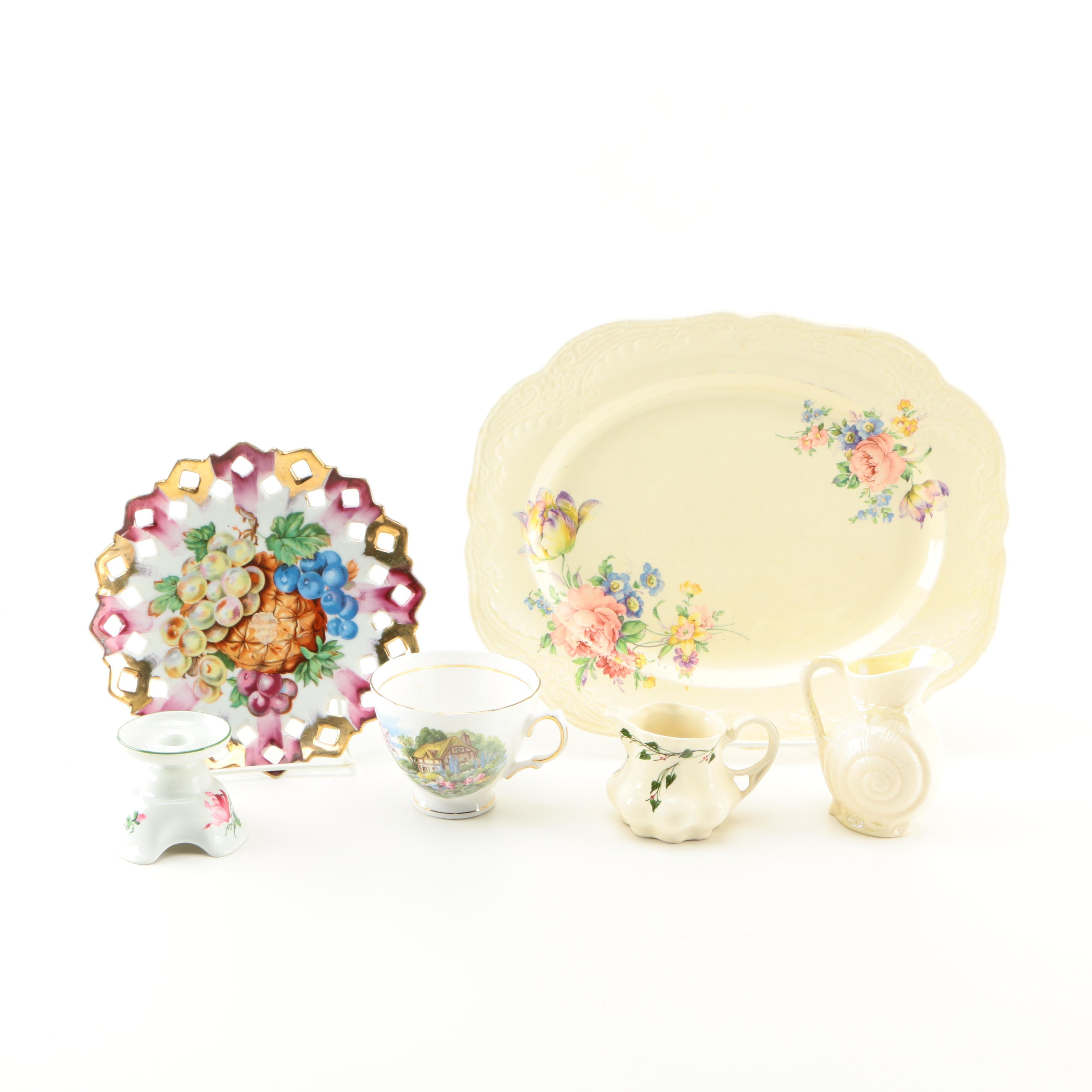 Hand-Painted Porcelain Assortment Including Belleek