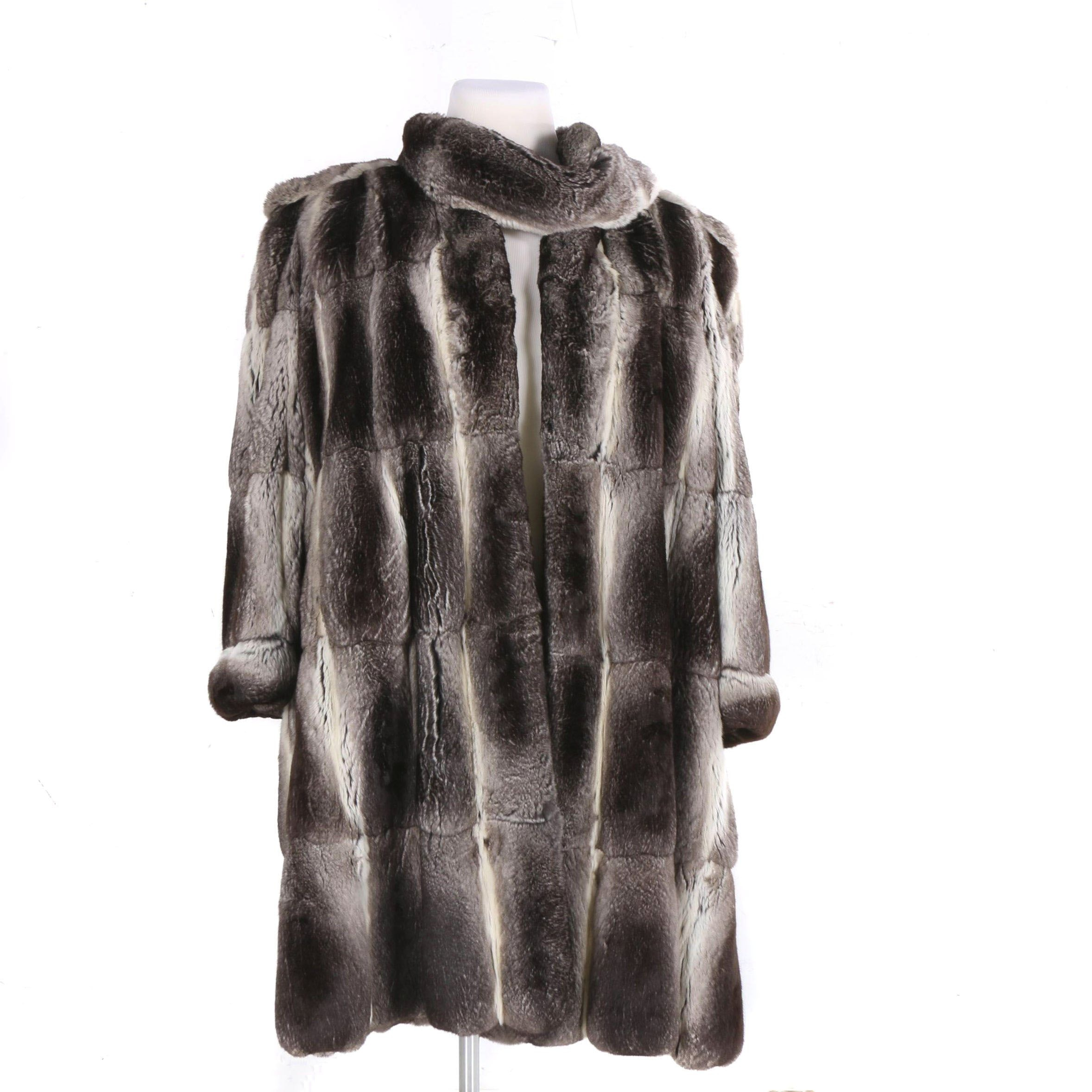Leon Vissot Chinchilla Fur Coat