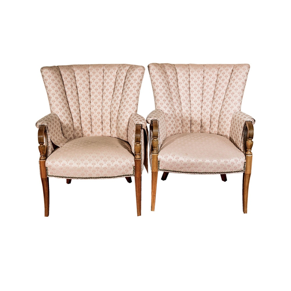 Pair of Upholstered Accent Chairs