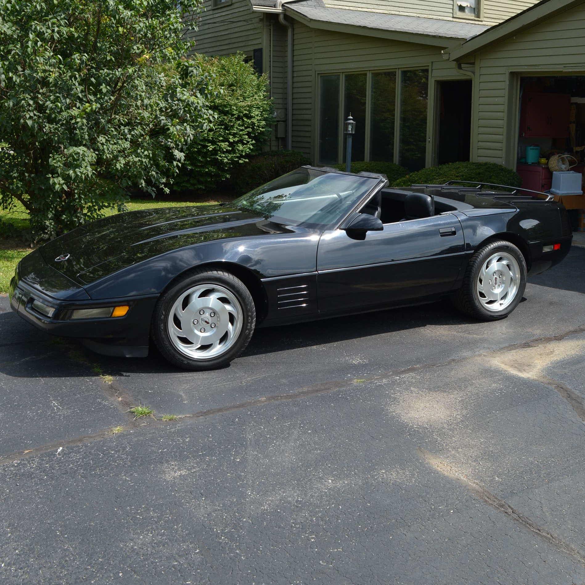 1992 Black Convertible Corvette