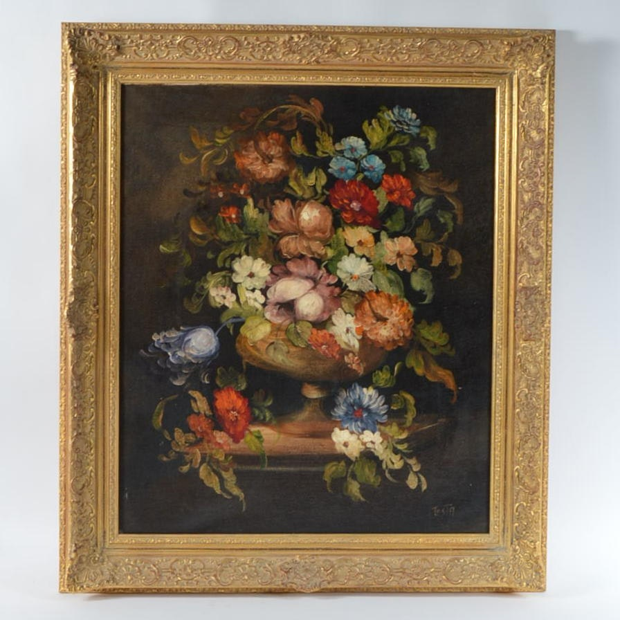 Testa Oil Painting of Floral Still Life