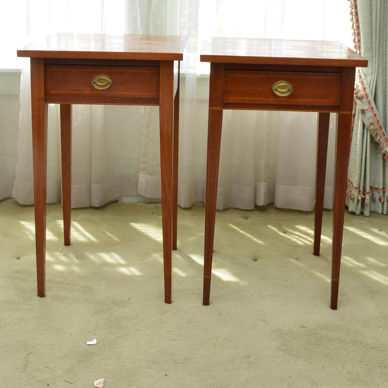 Pair of Federal Style Cherry Side Tables