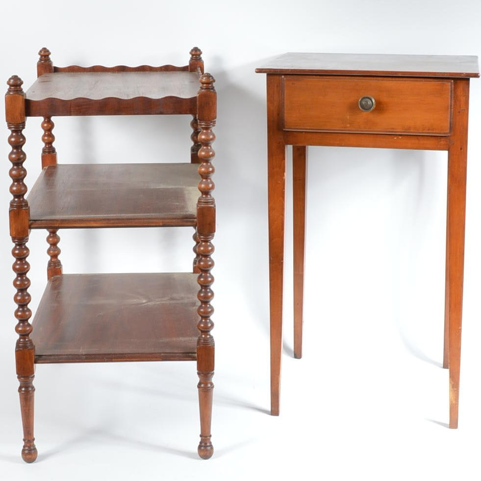 Pairing of Antique Accent Tables