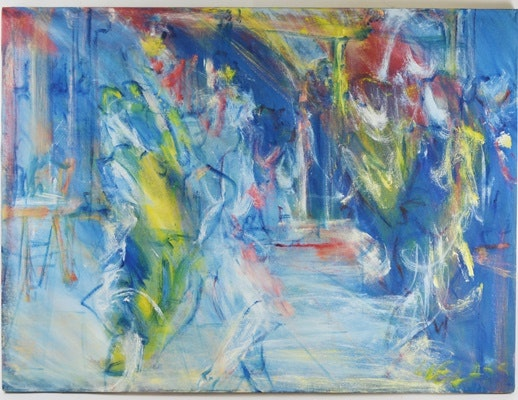 William Glass Original Acrylic on Canvas Abstract Painting