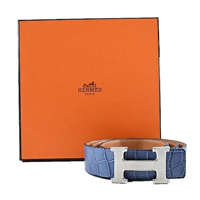 Hermès Constance Reversible Pale Blue Belt