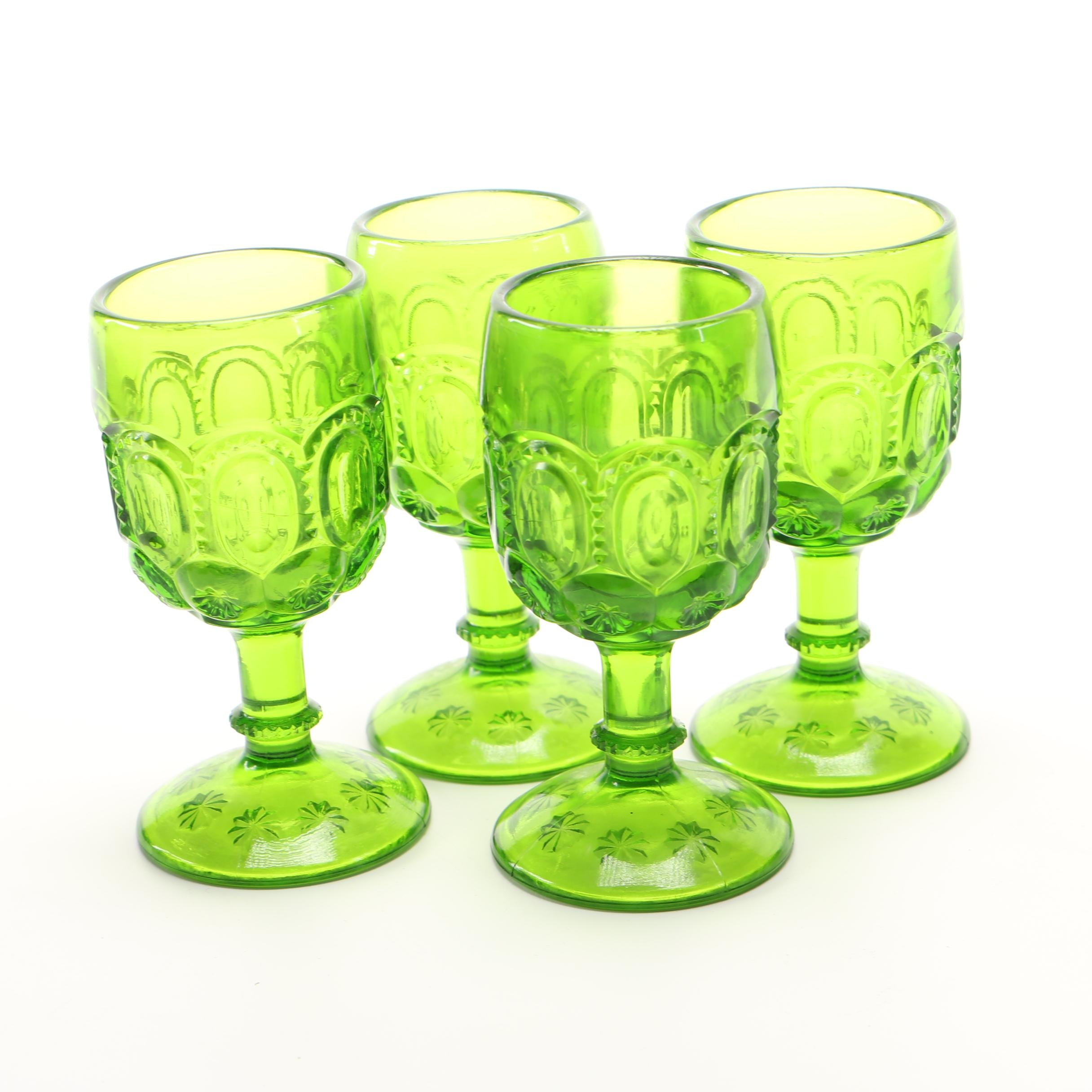 """Wright Glass """"Moon and Stars"""" Wine Goblets"""