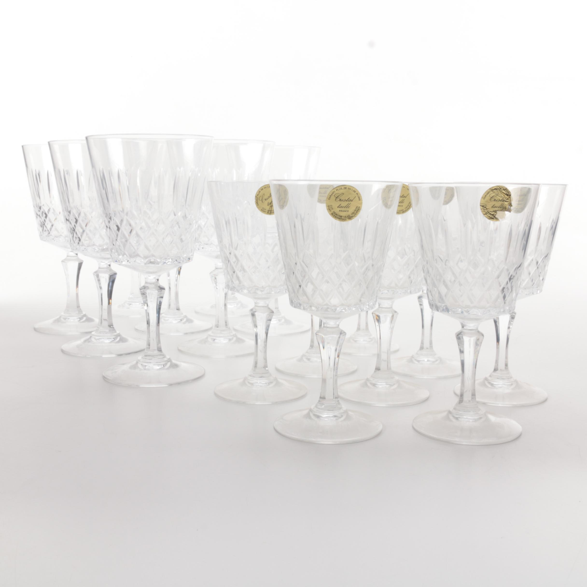 French Crystal Wine Glasses
