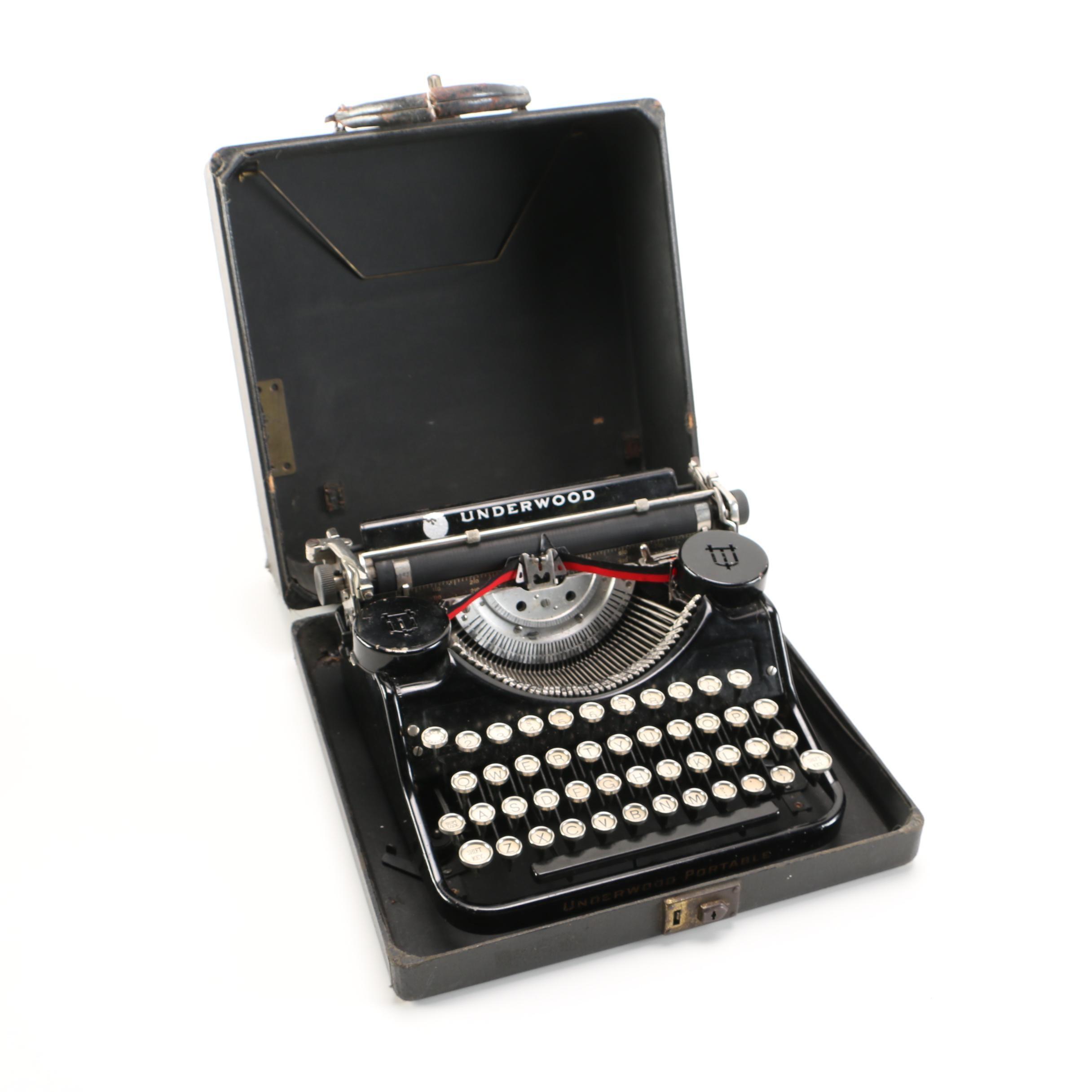 Vintage Underwood  4 Bank Typewriter