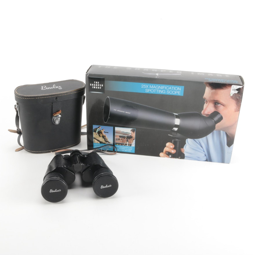 Sharper Image Spotting Scope And Binolux Binoculars Ebth