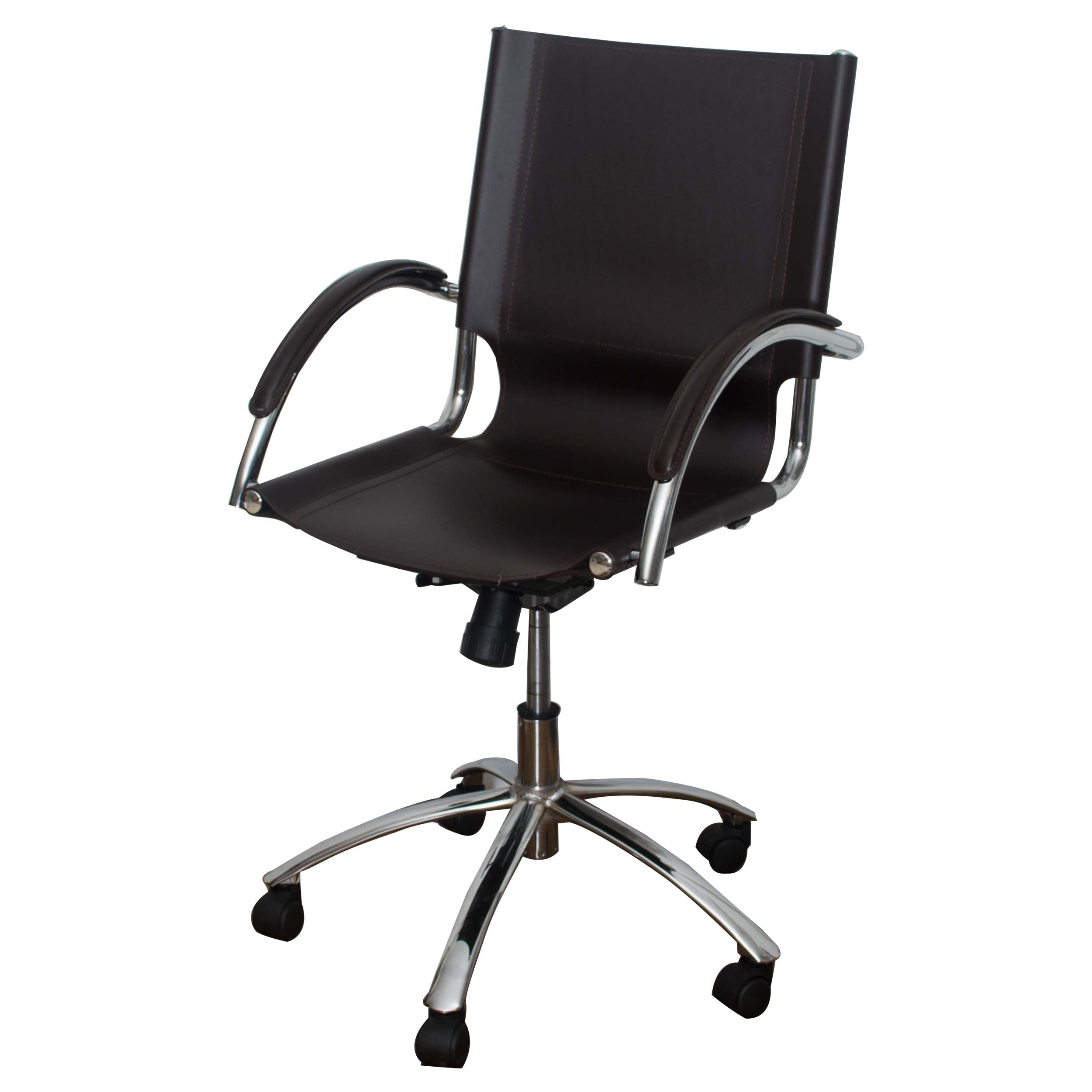 Leather and Chrome Office Chair