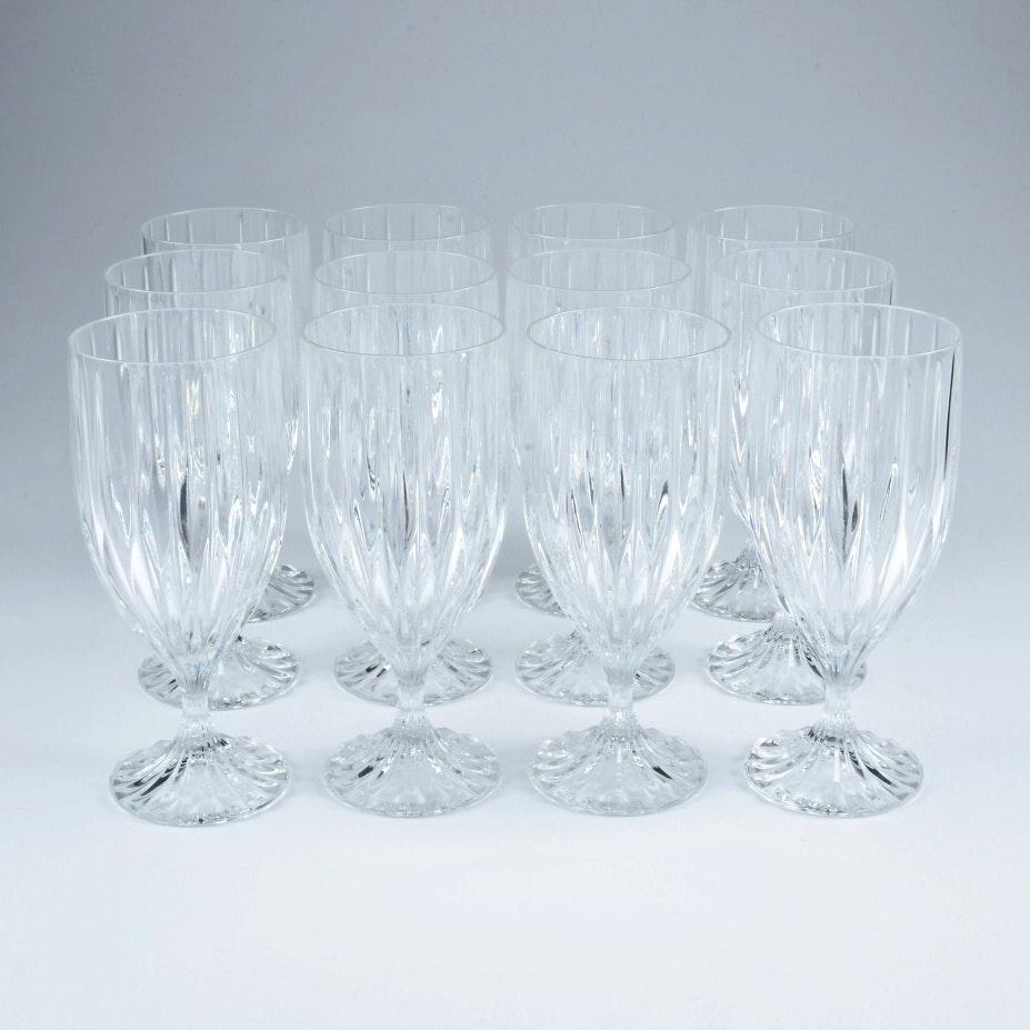 Mikasa Crystal Park Lane Iced Tea Glasses Set of Twelve