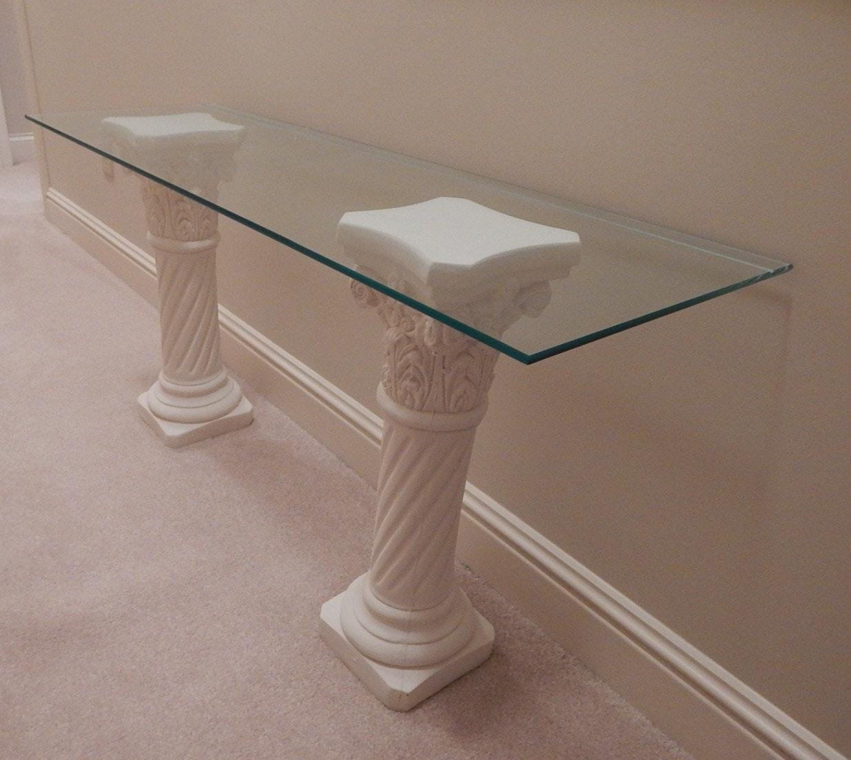 Corinthian Twisted Column Glass Top Table ...