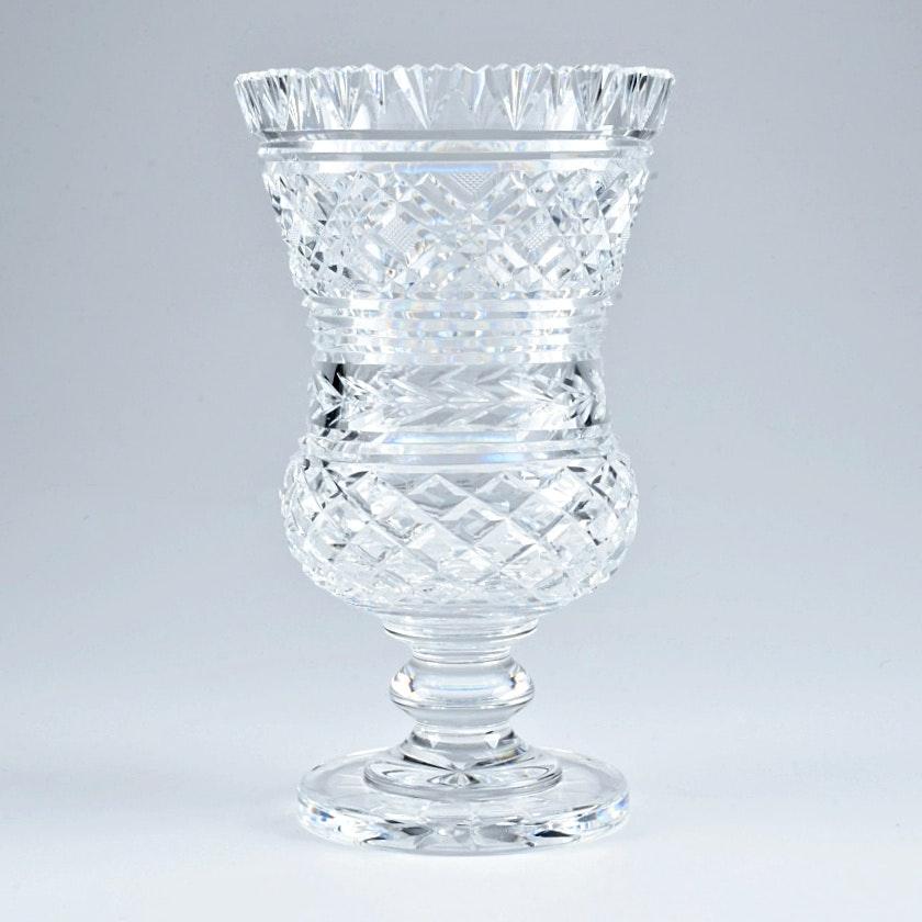 Vintage Waterford Crystal Footed Thistle Vase