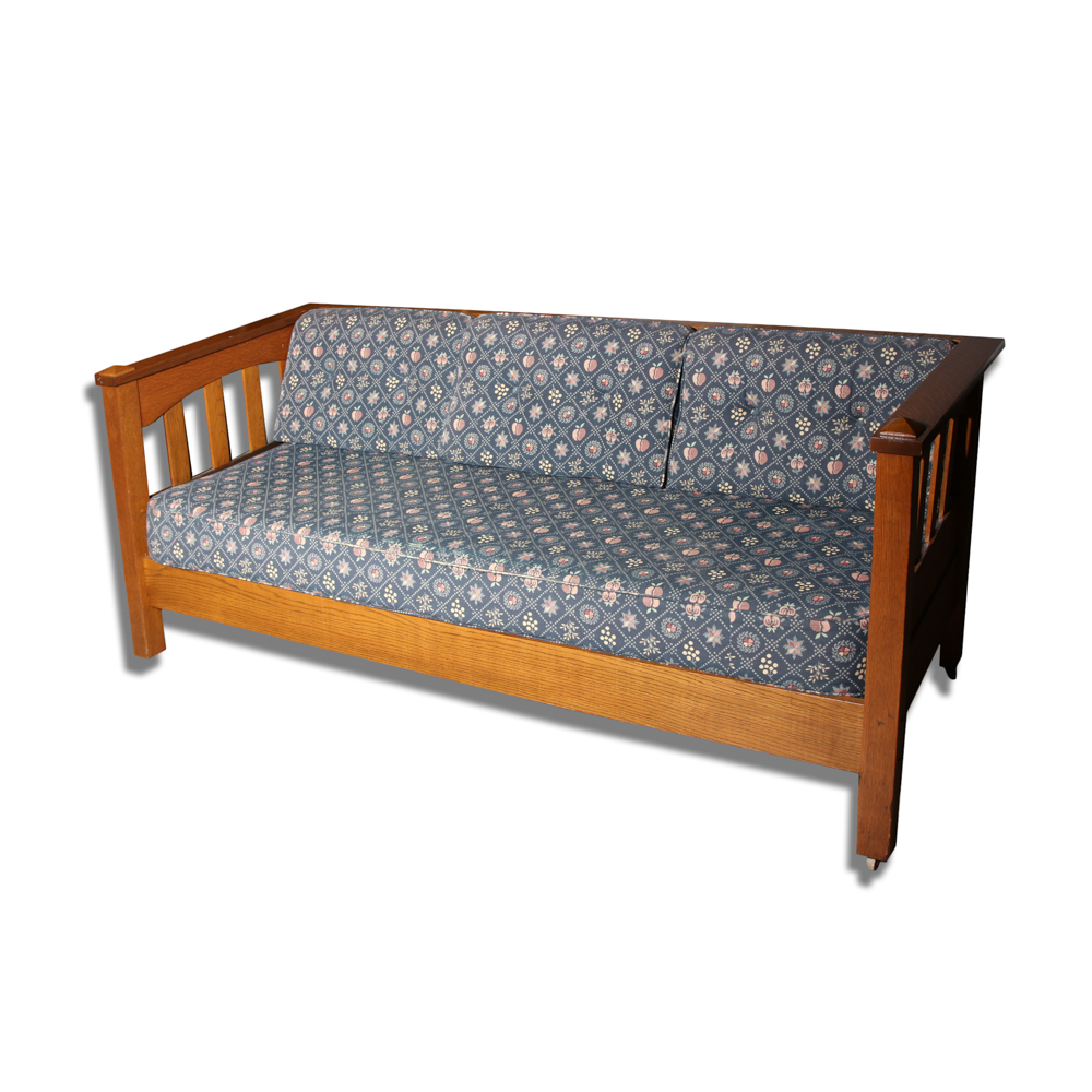 Mission Style Oak Couch