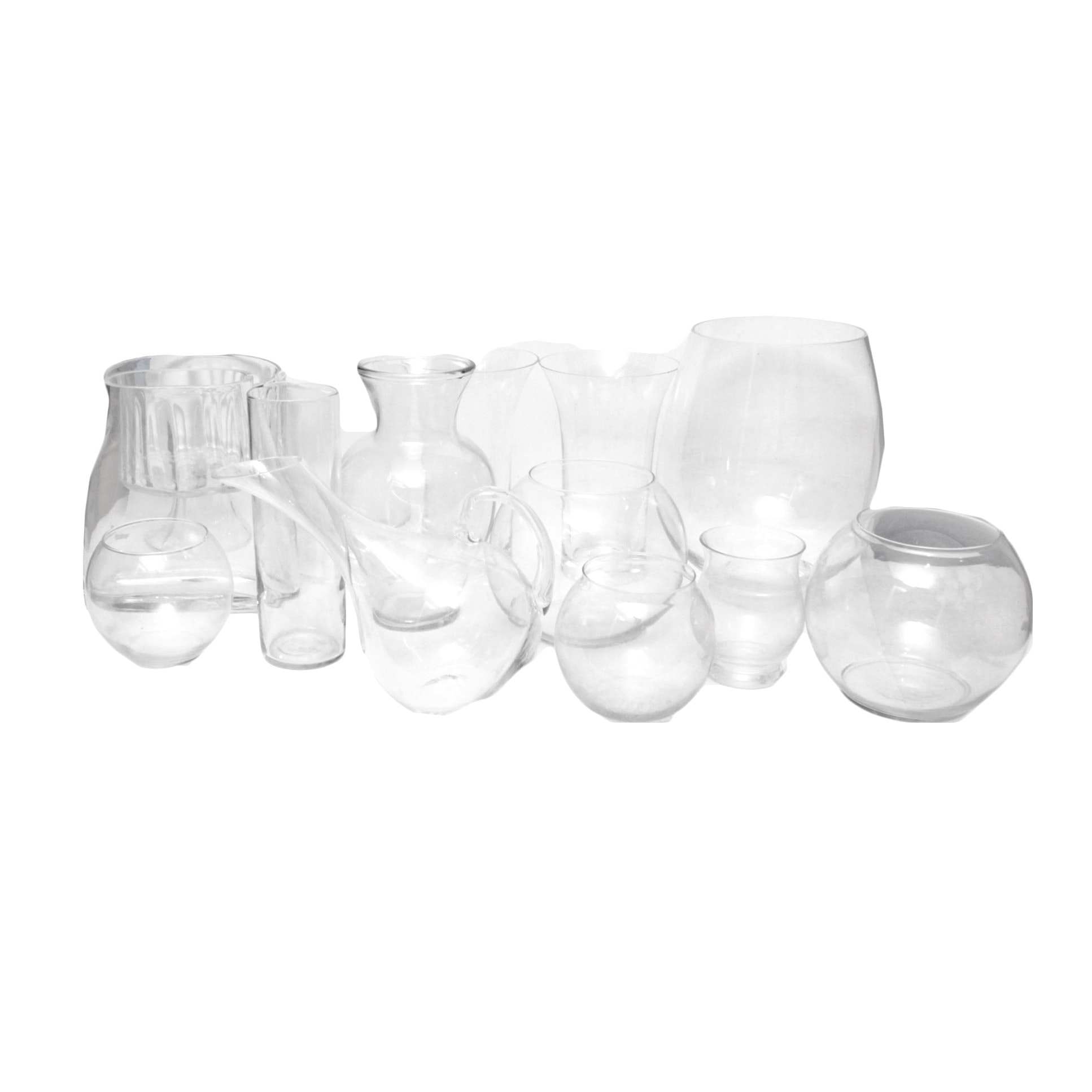 Glass Vases and Pitcher