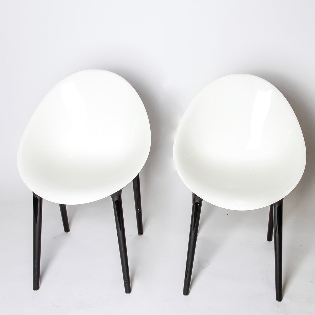 """Set of Two """"Super Impossible"""" Chairs by Kartell"""