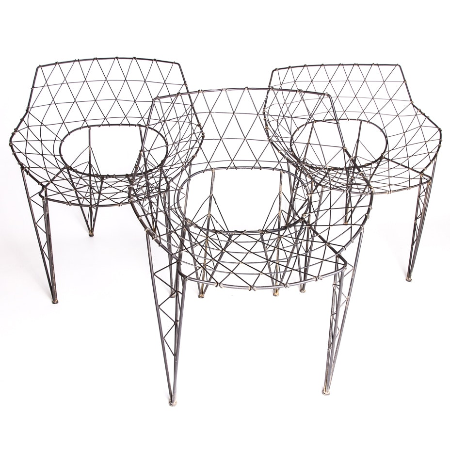 Set of Contemporary Metal Chairs