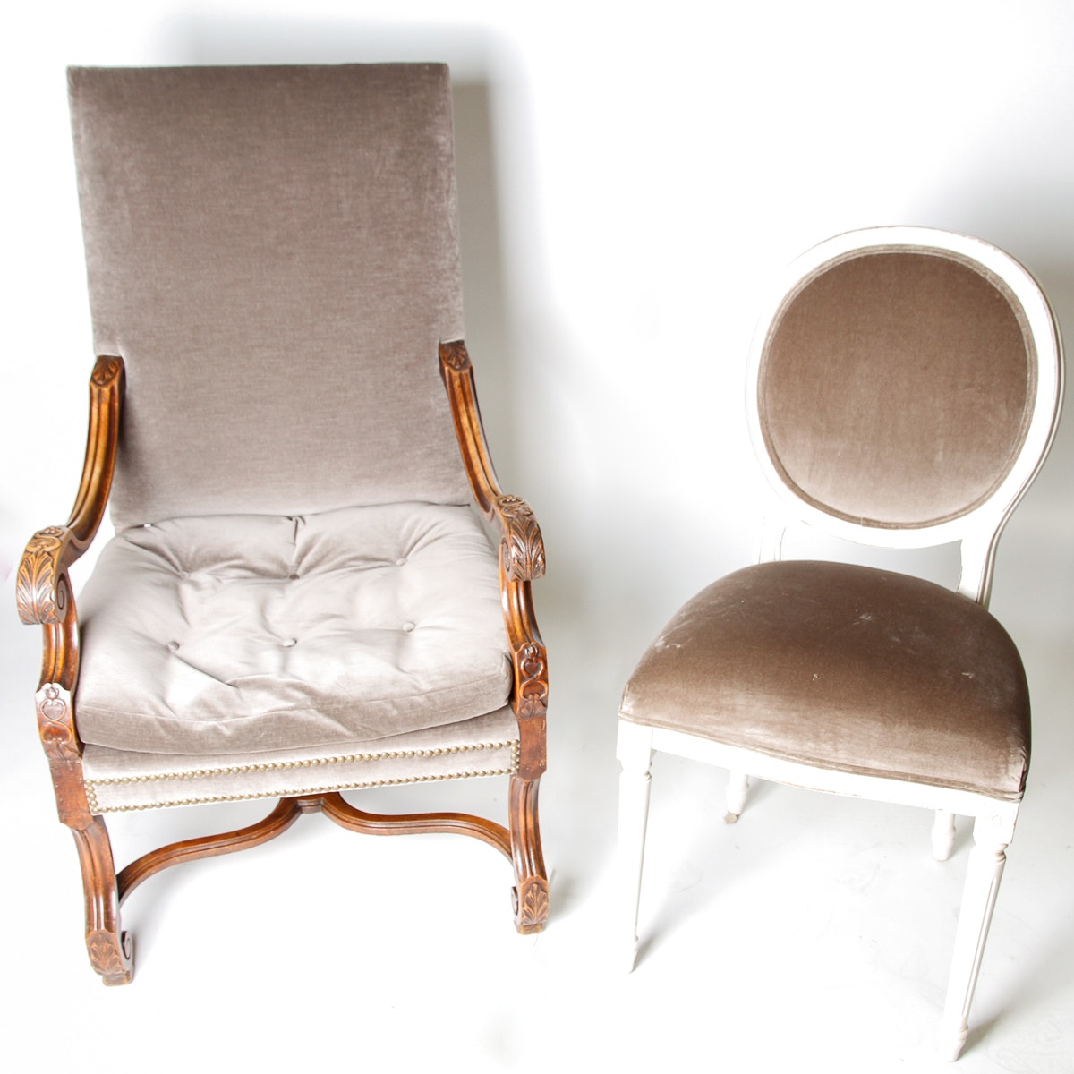 Pair of French Louis Style Chairs