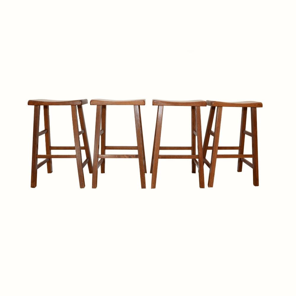 Cherry Saddle Seat Barstools