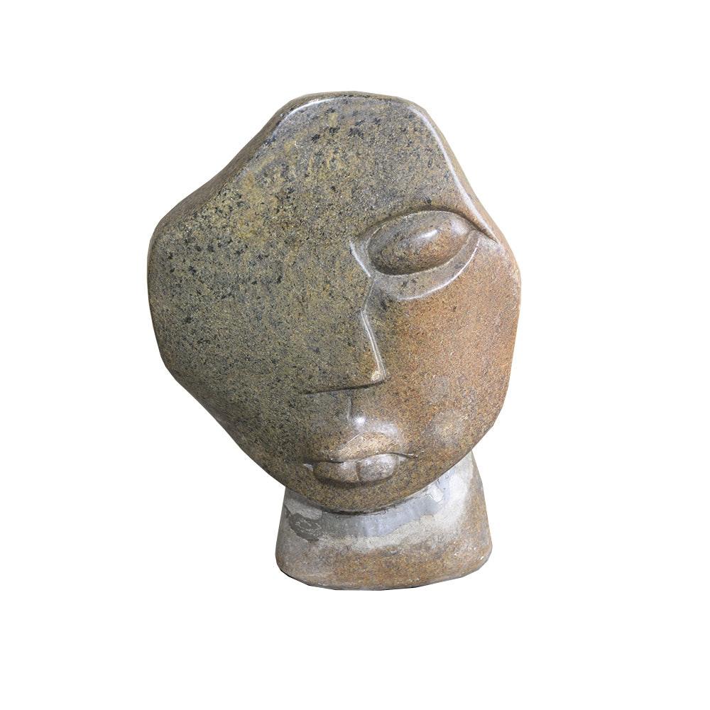 Granite Sculpture of a Face