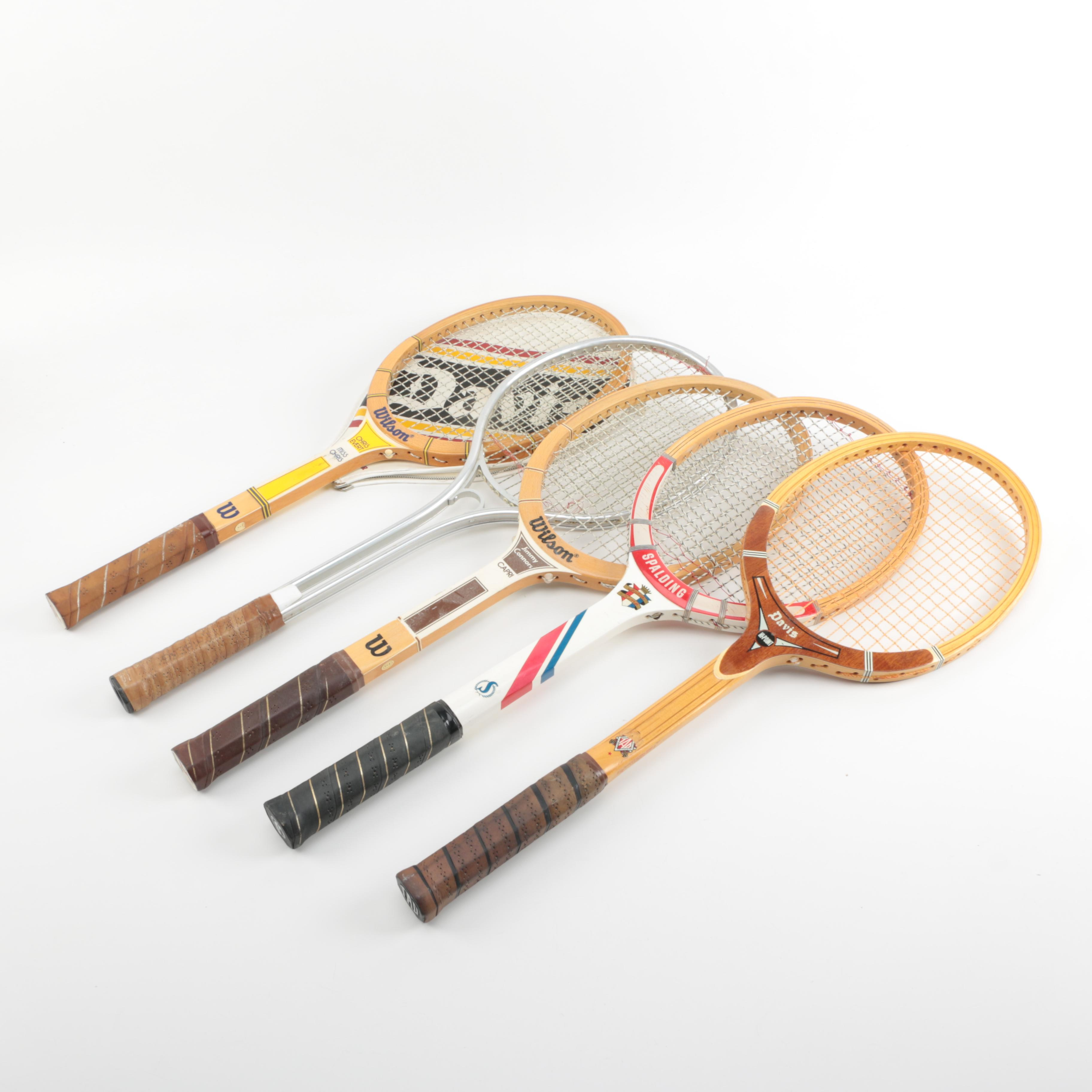 Collection of Five Tennis Rackets