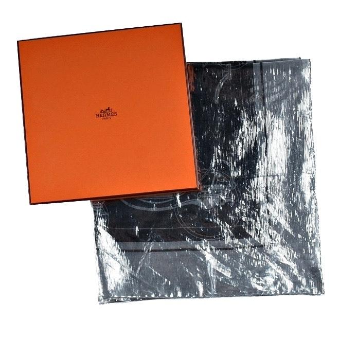 """Hermès Silver """"Ex-Libris Glam"""" Scarf"""