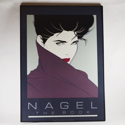 1985 Nagel The Book Serigraph After Patrick Nagel