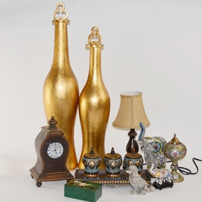 Gold Tone Decor and Desk Accessories
