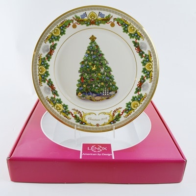 Lenox 2012 Greece Christmas Trees Around The World Collector Plate