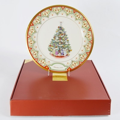 Lenox 2008 Spain Christmas Trees Around The World Collector Plate