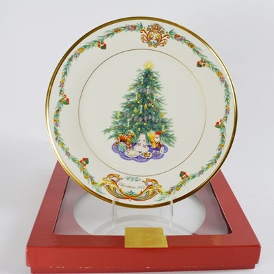 Lenox 2007 Norway Christmas Trees Around The World Collector Plate