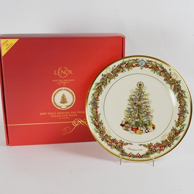 Lenox 2009 Denmark Christmas Trees Around The World Collector Plate