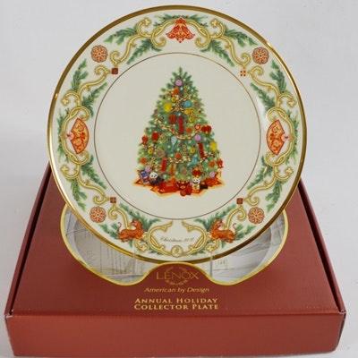 Lenox 2010 China Christmas Trees Around The World Collector Plate