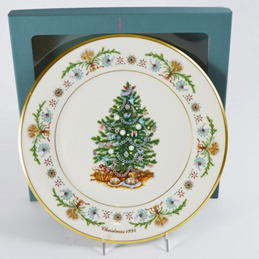 Lenox Christmas.Lenox 1994 Poland Christmas Trees Around The World Collector Plate