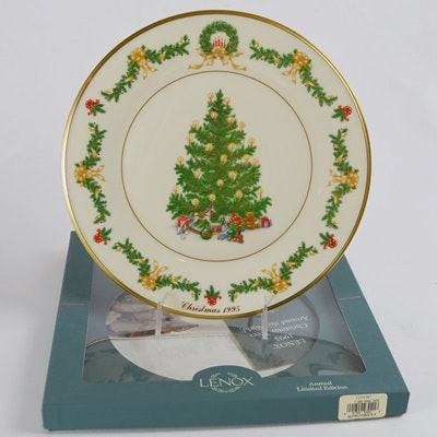 Lenox 1995 Austria Christmas Trees Around The World Collector Plate