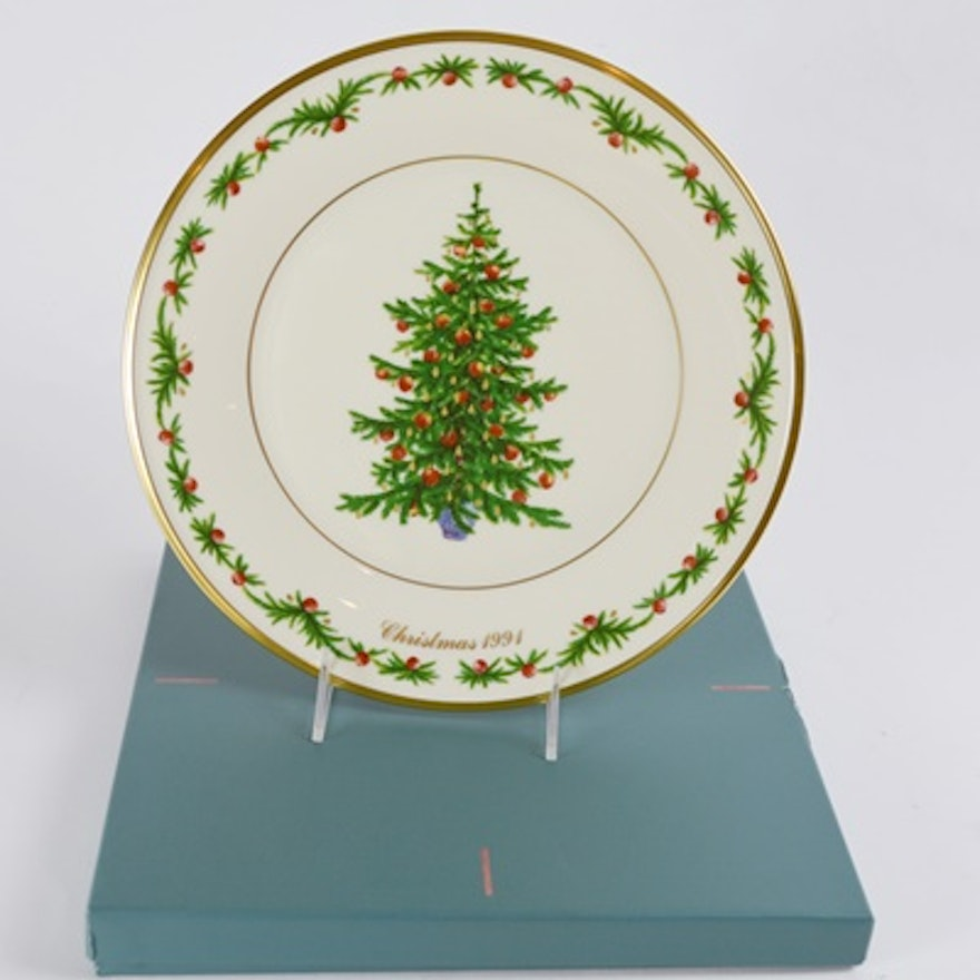Lenox 1991 Germany Christmas Trees Around The World Collector Plate